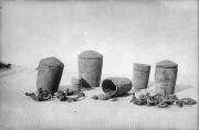 Находки из средневекового клада, кожанные наручи
