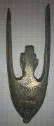 Наконечник ножен с крестом, переходящим в трезубец 11-13 век.