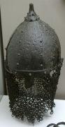 шлем Казазово представленный на выставке Сокровища Кубани, датирован 9 веком