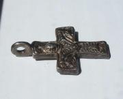 Двусторонний серебряный крест Киевской Руси