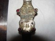 Фибула пальчатая 6-век (серебро,камни)