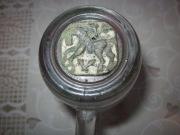 эмалированная накладка с изображением всадника на коне