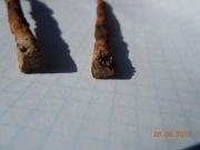 Биметаллическая (железо бронза) булавка предскифского времени