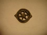 Серебрянный солярный амулет, символ колеса