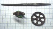 Скфский солярный амулет, кольцо, шило