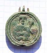 Икона мощевик бронзовая КР