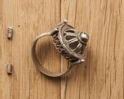Массивный литовский серебряный перстень 14-15вв.