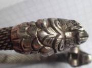 Серебряный браслет Киевской Руси в виде змея