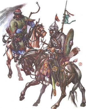 Золотоордынские воины. Конец 14 века