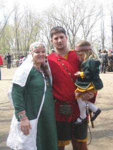 Капитан Рарога с семьей