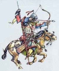 Золотоордынский Воин в шлеме из кургана Плоское