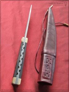 Средневековые ножи в  ножнах