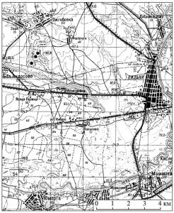 План расположения Пильнинских археологических объектов. (Пильнинский район, Нижегородская область)