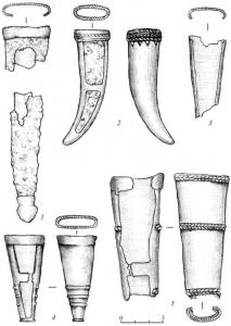 Бронзовые наконечники ножен клинкового оружия