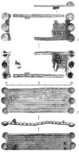 Бронзовые броши с железными иглами