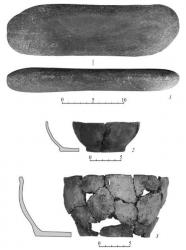 Точильный камень. Керамическая посуда