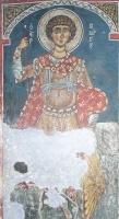 Св. Георгий, XII в., фреска церкви Панагии Форвиотиссы, Асину, Никитари, Кипр.
