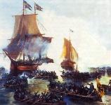 В.А. Печатин. Взятие Петром Первым шведских кораблей в устье Невы