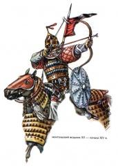 Монгольский всадник, 12 - начало 14 века. Худ. М. Горелик