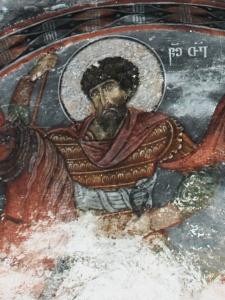 св. Федор (Лагурка), с хорошо сохранившимся изображением ламелляра с заклепками между пластин