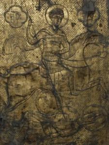 Супский св. Георгий в полосатом заклепочном «перевернутом» ламелляре