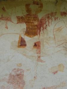св. Георгий в ламелляре с прямоугольными пластинами на фасаде церкви в Адиши