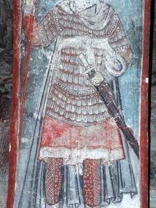 св. воин из Тимотесубани с направленным вниз протуберанцеві.!м ламелляром