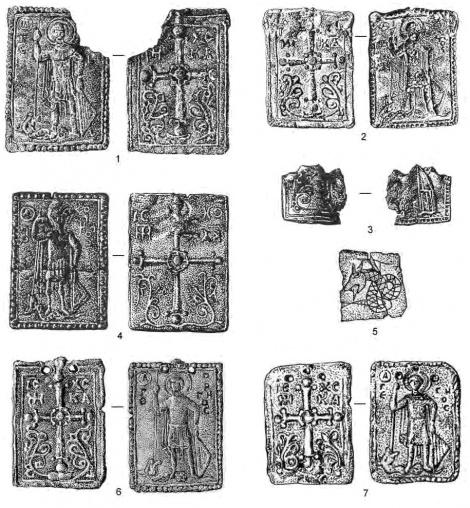 Свинцовые иконки из региона Силистры (Добруджа)