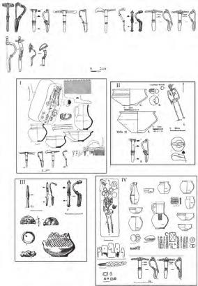 Фибулы и комплексы с фасетированными фибулами с зерненой кольцевой гарнитурой, близкие к A.167