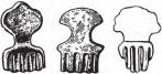 Скифские бляшки в форме лапы животного