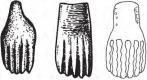 Скифские бляшки в виде лапы животного