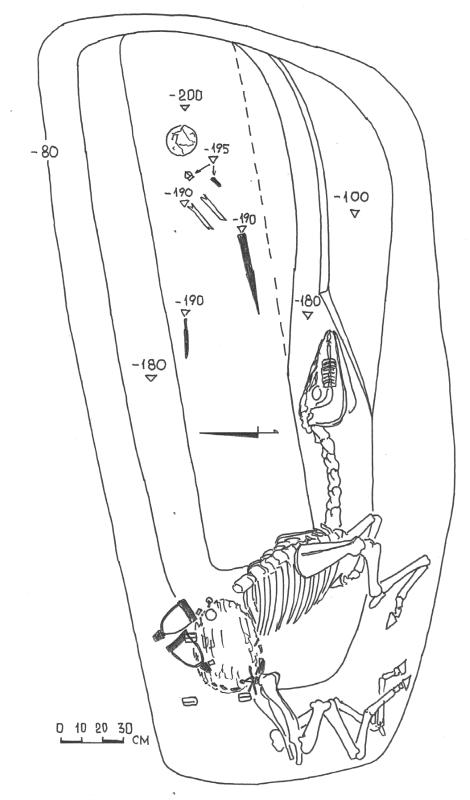 План погребения № 522 Нетайловского могильника