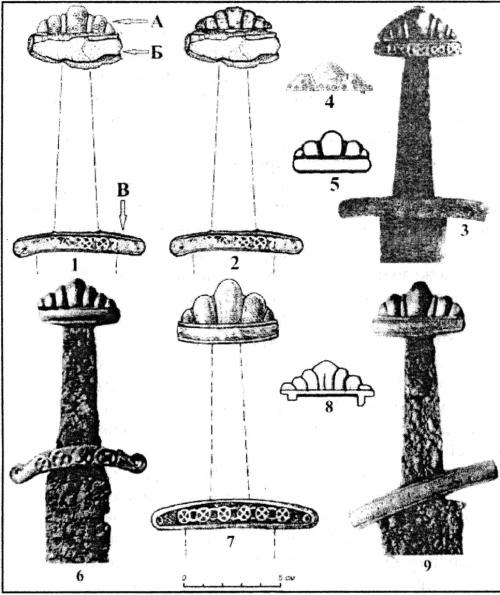 Знахідки фрагментів середньовічних мечів та деталей руків'їв