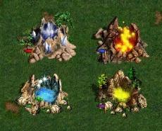 Источники Силы Магии Воздуха, Воды, Огня и Земли