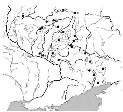 Карта распространения случайных находок