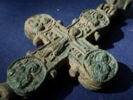 Энколпион Богородица помогай,  Киевская Русь,12 век