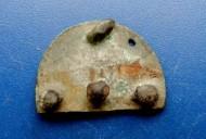 Зоомофная бронзовая накладка