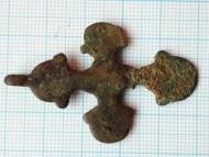 Крупный бронзовый крест Киевской Руси