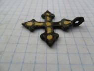 |Нательный крестик с перегородчатой эмалью
