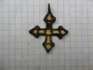 Нательный крестик с перегородчатой эмалью