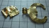 Золотые лунница и нашивка Черняхосвской кульуры