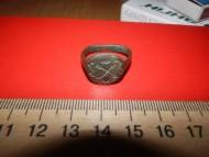 Казацкий перстень 17-18веков с традиционной эмблемой