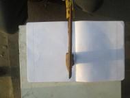 Ассиметричный топор с узорами