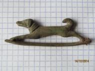 Бронзовое кресало в форме собаки
