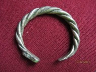 Браслет витой серебряный,  вес 80 грамм