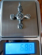 Крупный крестик КР (Серебро)