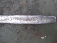Серебряная гривна с насечками