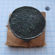 Большой серебряный перстень 14 век