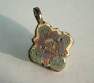 Иконка (Лик христа в перегородчатой разноцветной эмали)