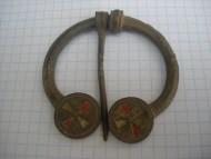 Бронзовая древнеславянская фибула-сюльгама